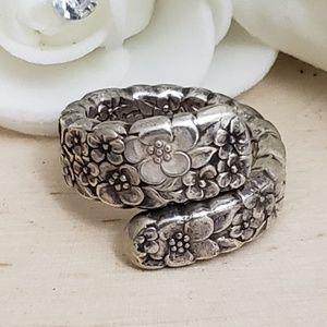 Jewelry - Heavy Vintage 925 Sterling Silver Spoon Ring Sz 6